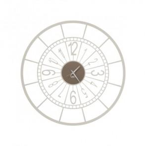 Orologio da parete Volano in ferro avorio bronzo diam. 50cm