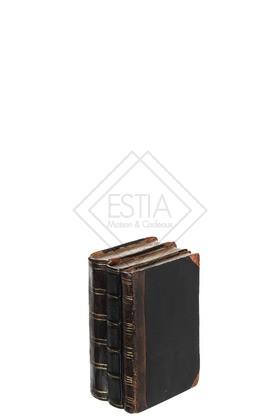 Libri Resina Nero/Marrone Small 11x14x20