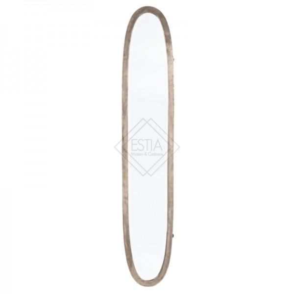 Specchio amira ovale alluminio e vetro 173.5X27.5H