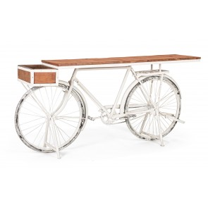CONSOLLE BICYCLE BIANCO 184X48X92