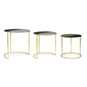Set 3 tavolini Desur to 40x40h/45x45h/50x51h