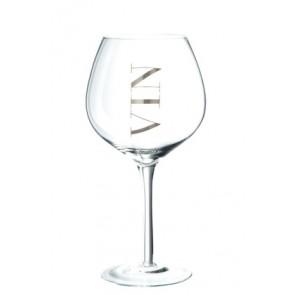 Set 6 Bicchiere Vino Rosso Trasparente/Argento 10x21.5