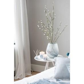 Vaso-Portacandele Denim Vetro Bianco Medium 16x16x22
