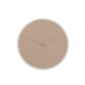 Orologio Rotondo Mdf Beige/Bianco con vetro d50x5cm