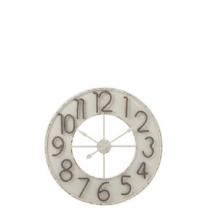 Orologio Numeri Corda Metallo Bianco/Grigio Large 91.5