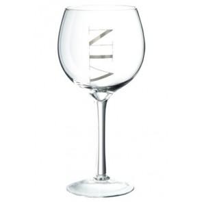 Set 6 Bicchiere Vino Bianco Trasparente/Argento 10x20
