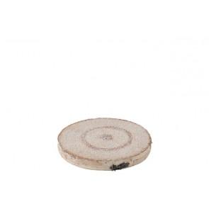 Disco Decorativo Corteccia Naturale Small 20.5x20.5x2