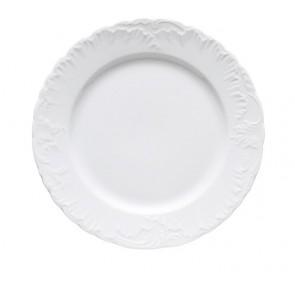 Servizio 12 piatti piani diametro 26cm Elisa Roccoco bianco