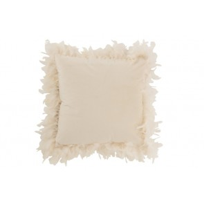 Cuscino Piume Poliestere Bianco 45X45X13