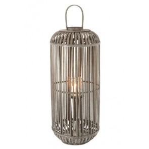 Lanterna Cylinder Wood Grey Large 40x96