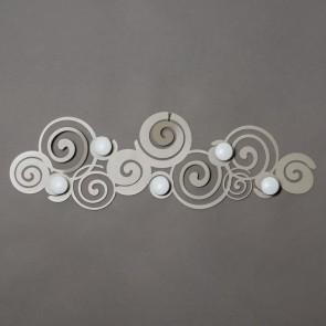 Appendiabiti da parete particolare Orfeo in ferro 75x25cm beige