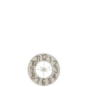 Orologio Numeri Corda Metallo Bianco/Grigio Small 60x5
