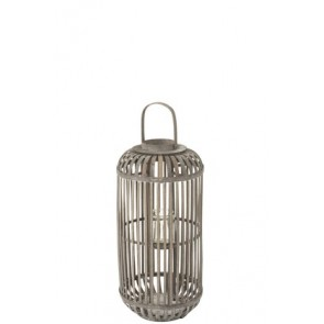 Lanterna Cylinder Wood Grey Small 32x32x67