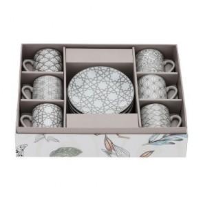 BOX 6 TAZZINE CAFFE' PORCELLANA 9X5CM
