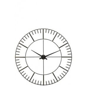 Orologio Numeri Romani Metallo Nero DIAM 97CM