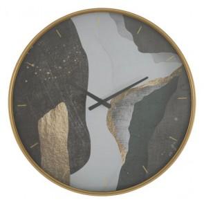 Orologio da muro in ferro e vetro diam60x6