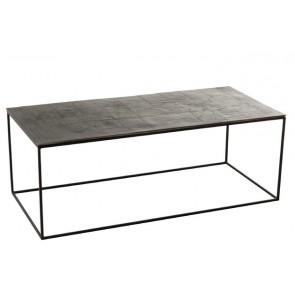 Tavolo Da Salotto Rettangolare Oxidize Alluminio/Ferro Nero/Verde 110X49X40